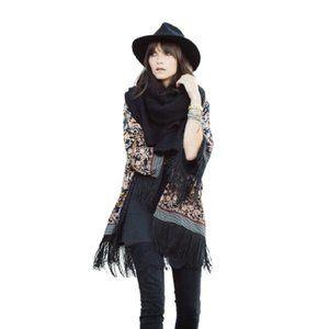 Zara paisley print fringe kimono jacket